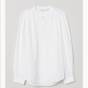 H&M white Blouse with cover Buttons